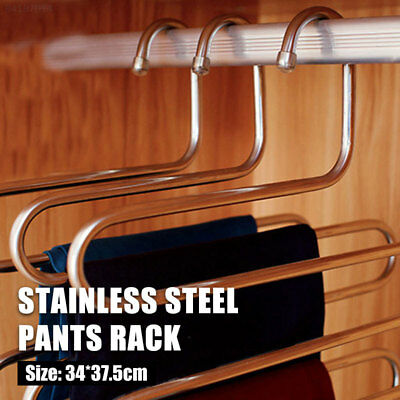 88B9 Multifunctional Stainless Steel Device Shelf Pants Rack S-Type Clothes