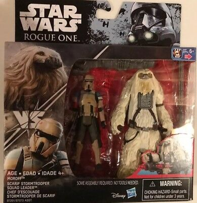 "Star Wars Moroff & Scarif Stormtrooper Squad Leader 3.75"" Rogue One 2 Pack"