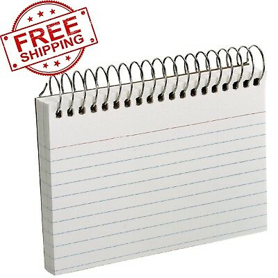 Esselte Pendaflex Perforated Ruled Spiral Bound Index Card 3 x 5 Inch White 50PK
