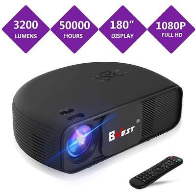 BNEST 3200 Lumen Projector 2018 Upgraded Version LED Home Video Projector Video
