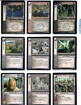 LORD OF THE RINGS LoTR SIEGE OF GONDOR SoG THE COMPLETE 122 CARD SET *LAST ONE*