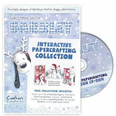 Crafters Companion ~ Christmas with Barkley ~ Papercrafting collection CD-Rom