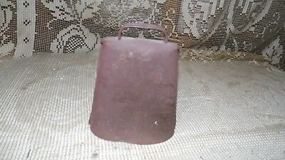 Vintage Rustic Cow Bell Metal Heavy With Large Bolt Dinger Country Farm