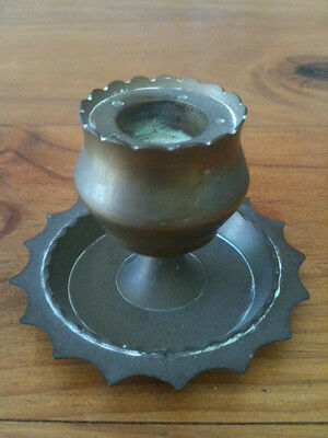 Small Vintage Brass Candle Holder