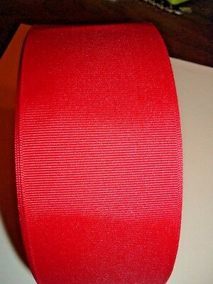 "Offray 50 Yd Roll Red Grosgrain Ribbon 3"" New Hq Cheer Bows-Free Shipping"