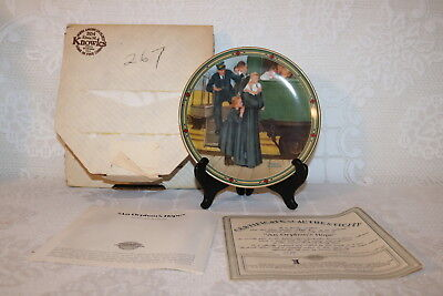 Norman Rockwell Collector Plate Knowles 1987 AN ORPHAN'S HOPE American Dream