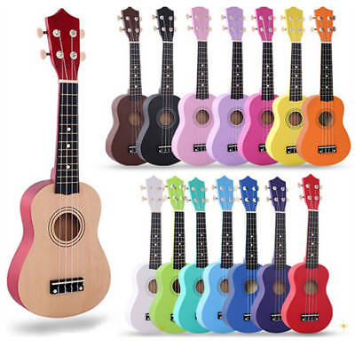 "Beginner Adults Kids 21"" Soprano Ukulele 4 String Sopranino Uke Instrument"