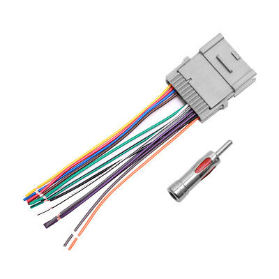 CAR STEREO RADIO Wiring Harness Antenna for 2000-up Buick Chevy GMC on 2000 gmc front end, 2000 gmc parts diagram, 2000 gmc switches, 2000 gmc fuel pump relay, 2000 gmc rear end, 2000 gmc exhaust pipe, 2000 gmc ignition wiring diagram, 2000 gmc fuel tank, 2000 gmc fuse panel, 2000 gmc brake lines, 2000 gmc power steering, 2000 gmc fuel line, 2000 gmc water pump, 2000 gmc accessories, 2000 gmc jimmy 4wd switch, 2000 gmc tail light, 2000 gmc trailer wiring diagram, 2000 gmc wiring schematics, 2000 gmc door handle, 2000 gmc fuel pressure regulator,