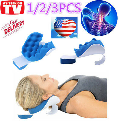 Neck Shoulder Relaxer Pillow Orthopaedic Pain Relief Massage Cushion Support KNN