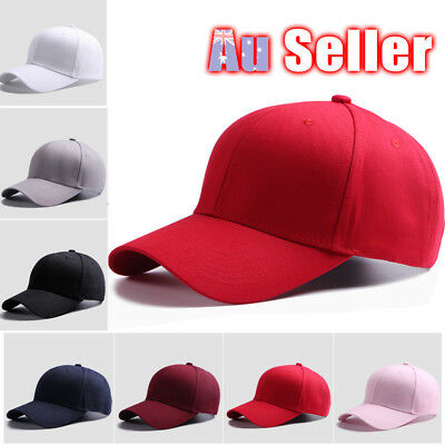 Blank Curved Plain Visor Hat Adjustable Pure Color Women Men Baseball Caps