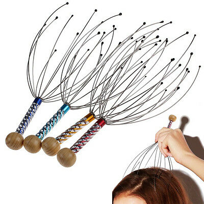 1x Handy Neck Scalp Steel Wire Head Therapeutic Massager Headache Stress Relaxes