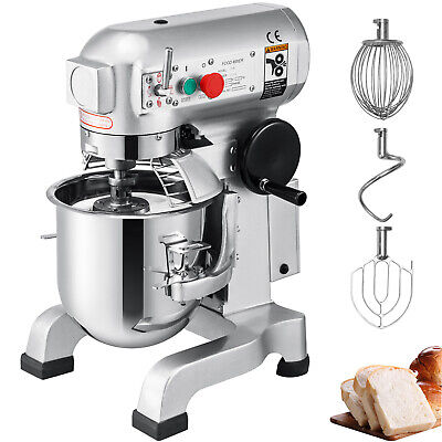 Three Speed 15Qt Commercial Dough Food Mixer Gear Driven Pizza Bakery 600W NEW