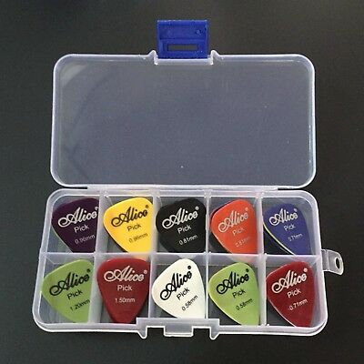 Alice 40 Guitar Picks 1 Box Case Acoustic Electric Bass Pic Plectrum Mediator