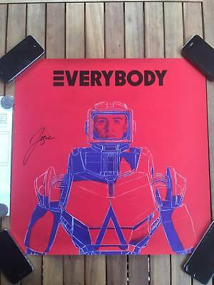 """Logic Autograph, Signed RED EVERYBODY Poster (18"""" x 18"""")"""