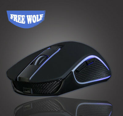 2400DPI Rechargeable Wireless Silent LED Backlit USB Optical Gaming Mouse MICE
