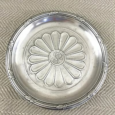 Antique Christofle Silverplate Wine Bottle Coaster Dish French Silver Plate