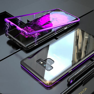 Magnetic Adsorption Tempered Glass Cover Case For Samsung Galaxy Note9 S9plus S8