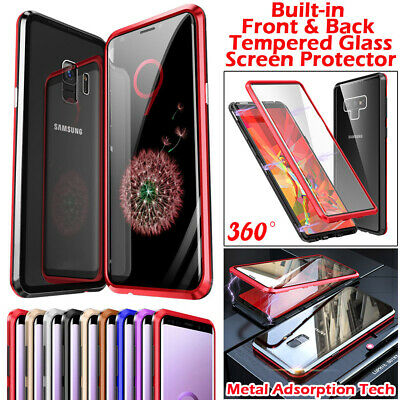 Screen Protector Tempered Glass Magnetic Adsorption Case For Samsung Note 9 S9