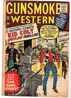 Gunsmoke Western Featuring Kid Colt & Two-Gun Kid #60, Very Good Condition