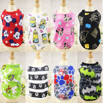 Various Small Dog Cat Various Pet Puppy Clothes Vest T Shirt Apparel  UK02