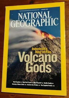 National Geographic Magazine January 2008 Indonesia's Ring Of Fire Volcano Gods