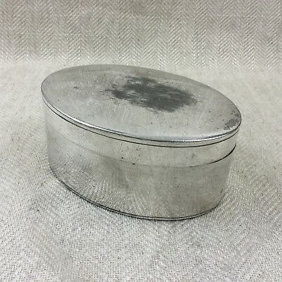 Antique Silver Plated Box Jewellery Casket Victorian Oval