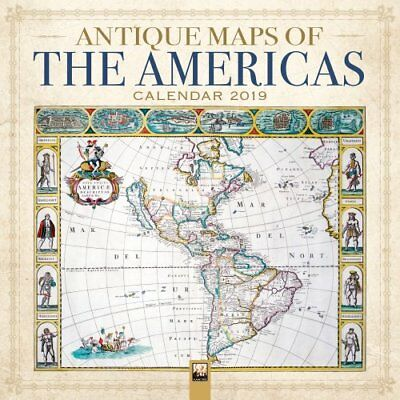 Antique Maps of the Americas Wall Calendar 2019 (Art Calendar) 9781787551121