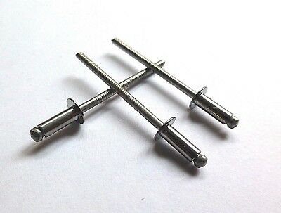 3mm, 3.2mm, 4mm, 4.8mm A2 STAINLESS STEEL POP RIVETS DOME HEAD
