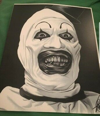 Art the Clown 11×14 hand sketched art print Terrifier movie Horror