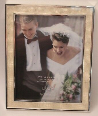 Lenox Jubilee Silver with Pearl Border 8x10 Wedding Picture Frame