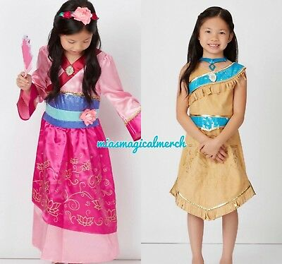 6b7aaaa781 Brand New Girl s Disney Mulan or Pocahontas Fancy Dress Costume With  Accessories