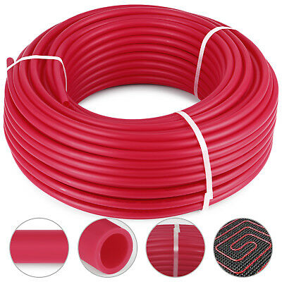 """1/2"""" x 500ft PEX Tubing/Pipe O2 Oxygen Barrier EVOH Leak-Proof Hot Water Red"""