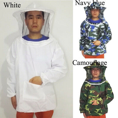 Jacket Beekeeping Suit Sleeve Protective With Over And Smock Veil Hat Unisex