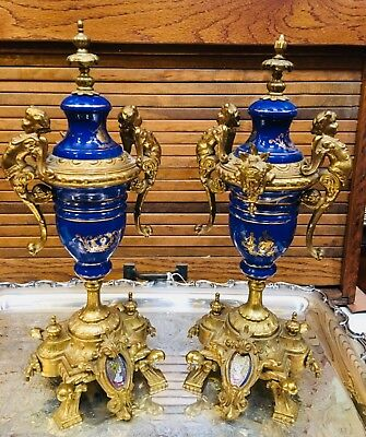 Antique Brevettato Cobalt Urn