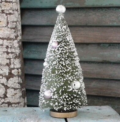 """CODY FOSTER 7"""" Retro-Style ~MINT GREEN~ Decorated BOTTLE BRUSH TREE ~ New!"""