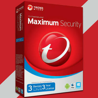 Trend Micro Maximum Security 2019  One Year One Device