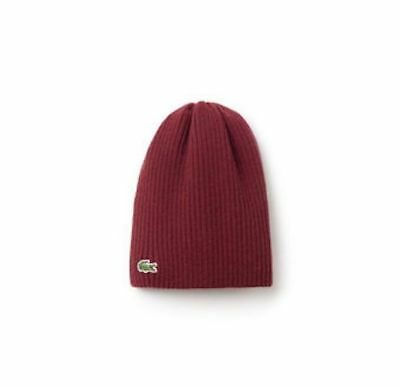 8a26512e65 LACOSTE SHERWOOD CROC Ribbed Wool Knit Beanie - $45.00 | PicClick