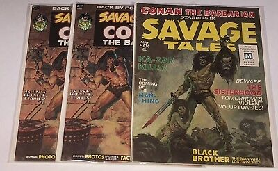 Savage Tales issues 1,2,2,3,4,4,5,6,6,7,8,9. All in VF-NM condition.