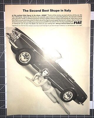 Life Magazine Ad FIAT The Second Best Shape in Italy