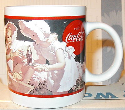 "1992 Coca-Cola Coffee Cup Mug 1950 Indoor Poster Outdoor Billboard ""hospitality"""