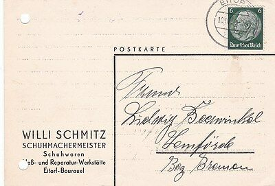 Germany 1939 Eitorf CDS Postcard Used VGC