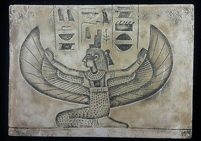 Ancient  Egyptian Winged Isis Wall Fragement Antique Finish