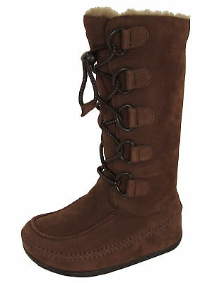 d832629debe24 FITFLOP MUKLUK BOOTS Chocolate Brown Lined Size Womens 8 -  39.99 ...