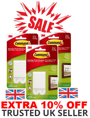 Command Strips 3M Medium Damage Free Wall Hanging Picture Poster Frames SALE