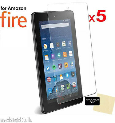"5 x Ultra Clear HD LCD Screen Protector Guard for Amazon Kindle Fire 7"" (2017)"