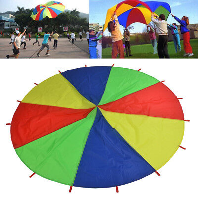 2m/3m Kids Play Parachute Children Rainbow Outdoor Game Exercise Sport Toy UK