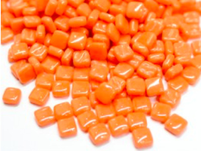 Small Mandarin Orange 8mm Glass Mosaic Tiles for Art & Craft Supplies