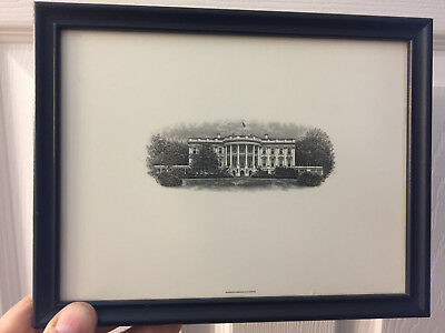 Nicely Vintage framed Engraving of the White House  See photos #1