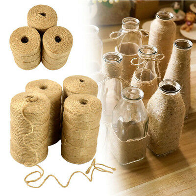 100M/Roll Natural Jute Rope Cord String DIY Scrapbooking Craft New Twine Z2I6F