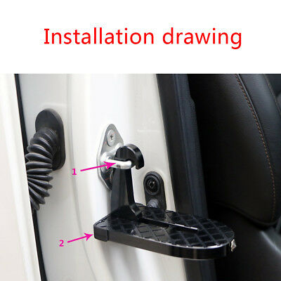 Mini Foot Pedal Ladder Folding Car Door Latch Hook Step For Jeep Truck Roof SUV
